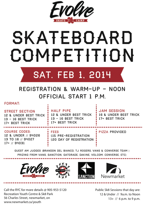 Skateboarding Competition Newmarket