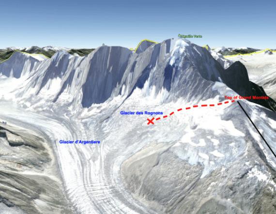 Glacier des Rognons. Crevesse. Brandon. Alps. Fall. 50 feet. France. Switzerland. Italy2