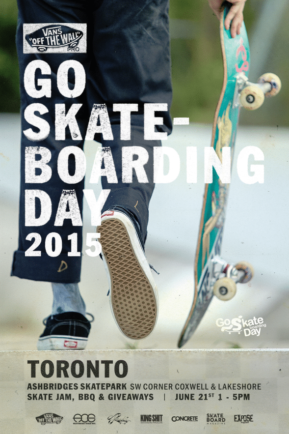 Go Skateboarding Day. Toronto. 2015