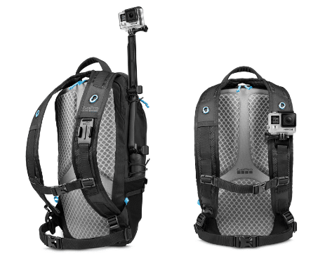 GoPro Seeker Pack with the Integrated camera mounts.
