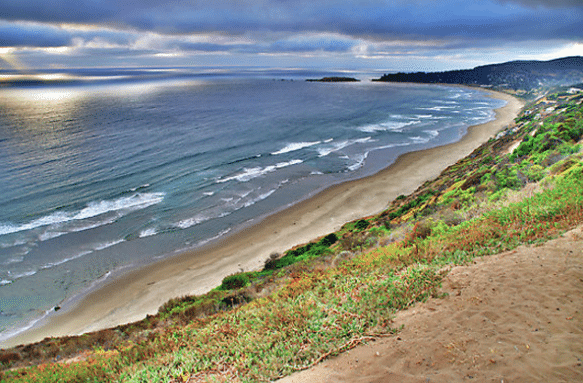 The beautiful coastline in Chile