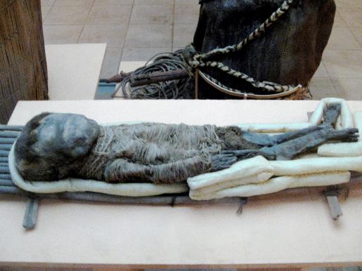 One of the Chinchorro mummies dating back to 5050 B.C