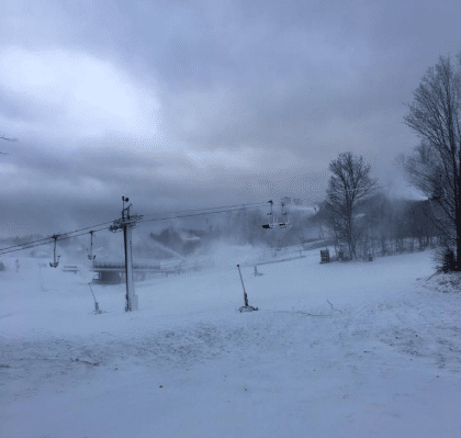 Many ski resorts have already started the snowmaking process, including Mount St. Louis Moonstone.