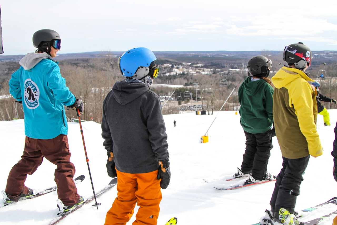 Learn to Ski At Evolve Camps