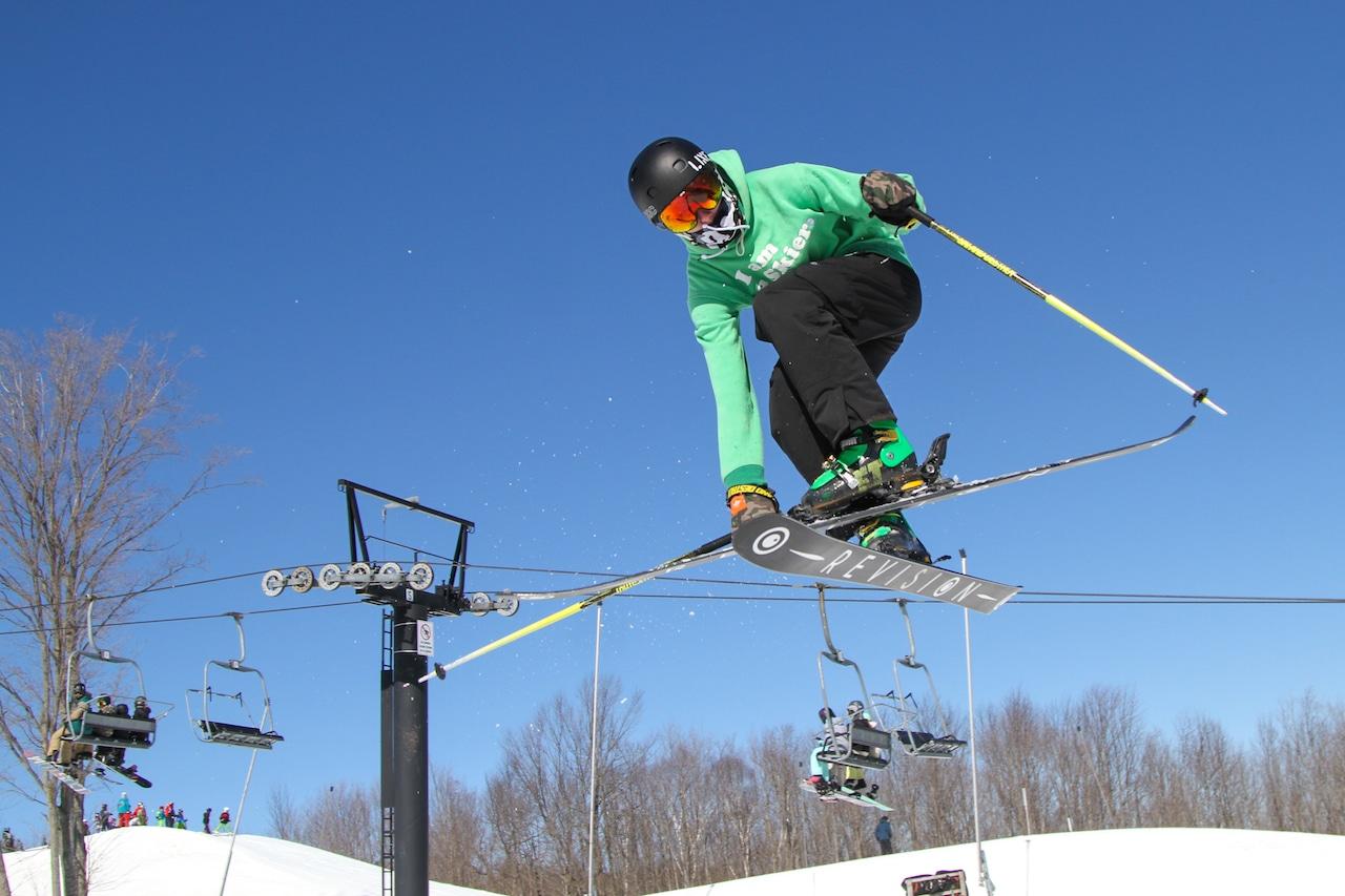 Masked Evolve Skier