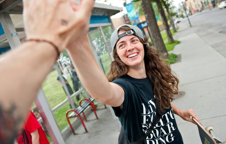 Canadian Annie Guglia, skater.